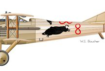 Aircrafts WW I SPADs