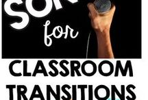 Transition Songs for Group Speech Therapy / Songs to use for transition time for preschool, primary and functional communication skills classrooms.  Great for the SLP to use for teaching core vocabulary, attending, commenting and concepts.