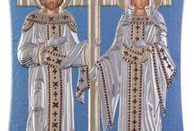Saint Constantine and Helen Greek icon