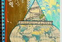 100 Days of Collage / Join me for a new session of my popular e-course 30 Days of Collage: http://www.stephanielevy.com/30-days-of-collage