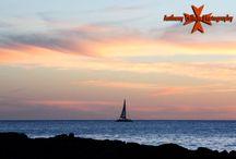 Hawaii Sunset Photography / Beautiful Scenic Sunset Photography, off the Leeward Cost of West Oahu, Hawaii