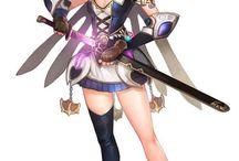 fantasy/ woman/ sword/ conept/ art/ game/ character