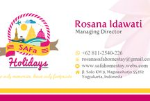 SAFa Holidays / SAFa Holidays is a tour and travel company, which manage the tour packages all over the Indonesia based on Yogyakarta, Indonesia.