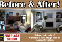 Before and After / fireplace image