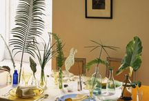 Foliage, Greenery and Leaves / Ways to decorate your wedding, dinner, special event or party using foliage, greenery and leaves.