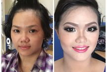 Makeup by Yonna / Before and after
