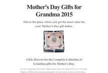Mother's Day Gifts for Grandma and More