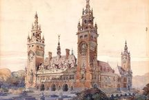 Architectural Watercolor / Architectural watercolor rendering inspiration / by Gerald Bauer