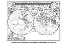 Colouring pages for adults - map