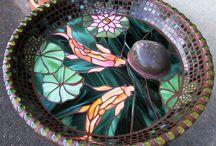 pecera decorada con pez