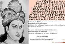 """Business Ethics from an Exemplary Ruler King Ashoka  / With a workable, ethical political philosophy, as Companies, and Individuals we could make an attempt to live by these rules as much as we can. """"A little evil, much good, kindness, generosity, truthfulness and purity.""""   / by Sihegee USA"""