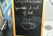 coffee sign boards