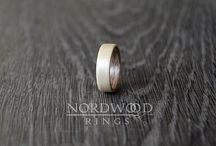 Bentwood rings - dual collecion - two tone wood