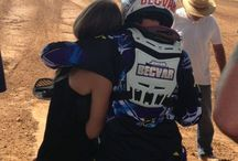 Couple,motocross