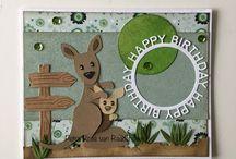 Kaart met kangoeroe