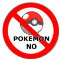 Pokemon No, not allowed to enter sticker, / This is a sticker to prevent Pokemon Go gamers to enter your property.
