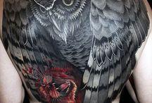 Bagoly tetoválás