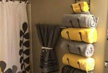 Use a wine rack in the bathroom asa towel holder