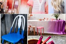 Ombre Decor / The Ombre effect has boomed in every part of our lives recently. Ombre is one of the hottest new trends this year - first hair, fashion and now interior!