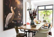 Schilderij in eetkamer