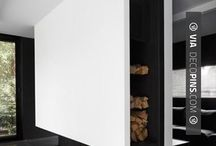 Fireplaces / Modern and minimalistic fireplaces, special materials and new technologies