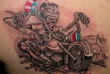 MotorCycle Tattoos / Motorcycles and Tattoos go together like few things do.