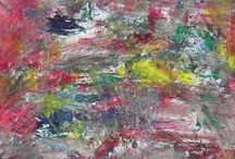Spain  - abstract landscapes - oil paintings by Kinga Ogiegło / Spain  - abstract landscapes - oil paintings by Kinga Ogiegło Texture creates the illusion of space.  www.ogieglokingaart.com