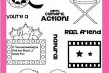 Movie Star / Clear stamp from pinkandmain.com