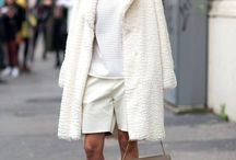 Fashion for all nations / White coat/ blouse/knee length shorts