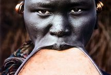 African Lip Adornments