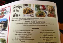 Publication / publication of my recipes in news papers and magazines
