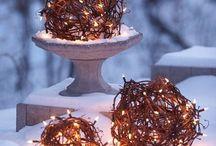 Weihnachtsdekoration für draußen / und drinnen