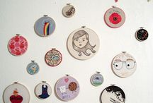 Embroidery hoops art