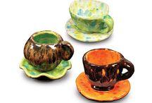 Ceramika-kubki,filiżanki