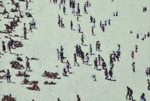 Nick Bodimeade / Nick Bodimeade painter artist paintings art contemporary beach figures st ives cornwall for sale