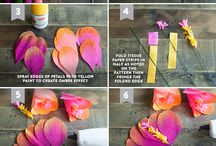 Paper flower making