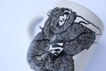 Super Bear! / Hand-painted porcelain