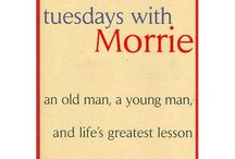 """Tuesday's With Morrie / #TuesdayswithMorrie: """"So many people walk around with a meaningless life. They seem half-asleep, even when they're busy doing things they think are important. This is because they're chasing the wrong things. The way you get meaning into your life is to devote yourself to loving others, devote yourself to your community around you, and devote yourself to creating something that gives you purpose and meaning."""" #mitchalbom #bethechange #bartlesville"""