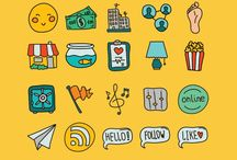 Icons, ribbons | FREE