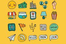 Icons, ribbons | FREE