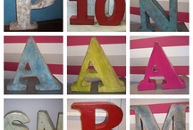 Letras decorativas Crea vintage / Letras decorativas en venta en nuestro bazar crea-vintage-tienda.blogspot.com.es