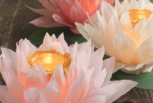 подсвечники из цветов