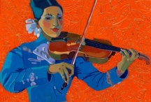 with violin