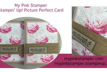 Handstamped Cards / Ideas and projects created by My Pink Stamper Owner, Robyn Cardon.  http://mypinkstamper.com