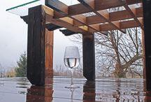 Stół drewno szkło , Table wood glass, Tavolo legno vetro / www.drewnoikamien.pl