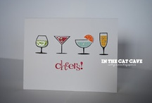 Stampin up. Happy hour / Examples of projects made with the stampset Happy Hour from Stampin up