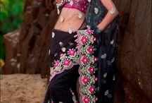 beautiful colourful saries