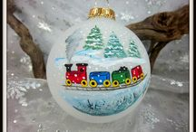Christmas ornaments to paint