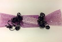 Glitter Gift Packaging / Simple Glitter Mesh tied with Poly curling ribbon makes quick gift wrap.
