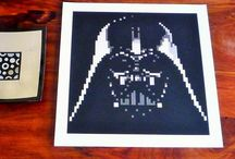 Prints of Lego® mosaics / These are some of the prints (available to buy on Etsy) of the Lego® mosaics I have made.